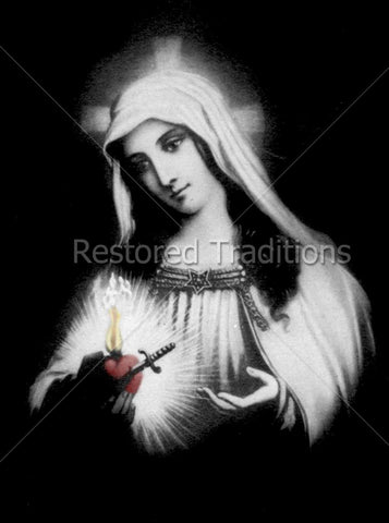 Virgin Mary Holds Her Immaculate Heart