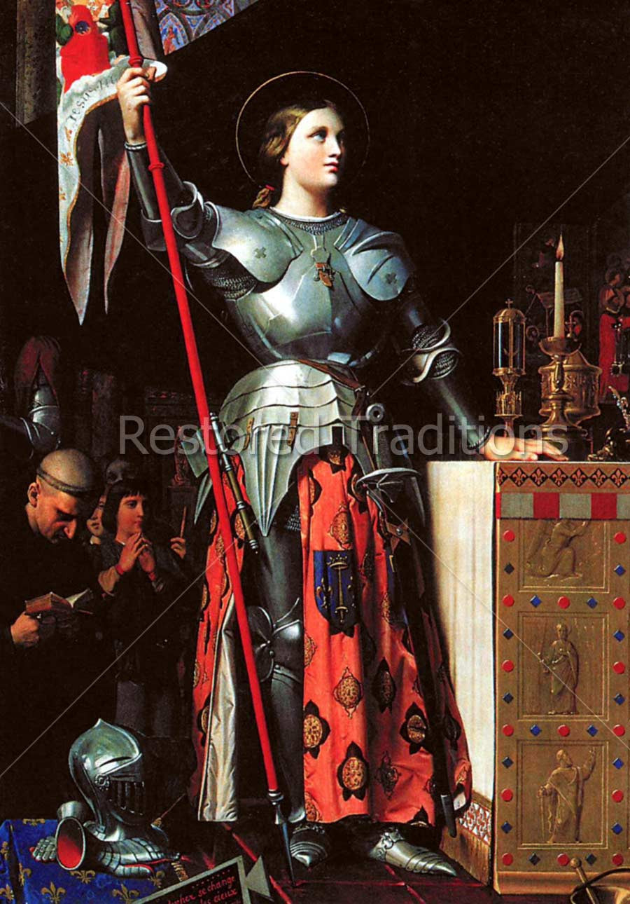 French Woman Soldier Saint