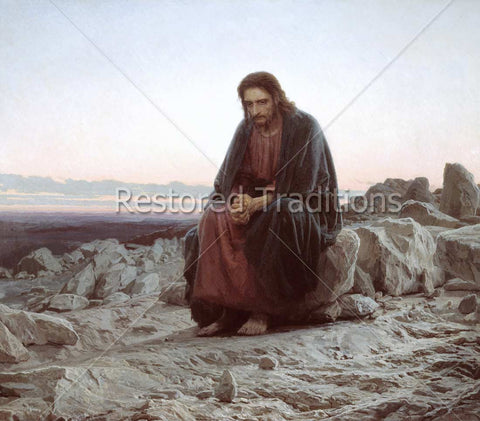 Jesus Fasting in Desert