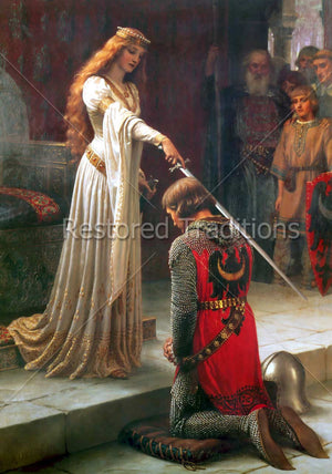Medieval Queen Knighting a Soldier