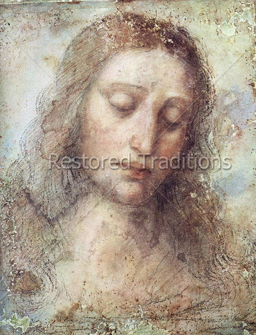 Jesus Portrait by Great Master Leonardo da Vinci