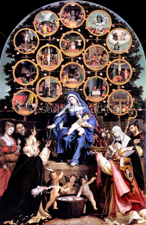 Virgin Mary and Rosary Mysteries