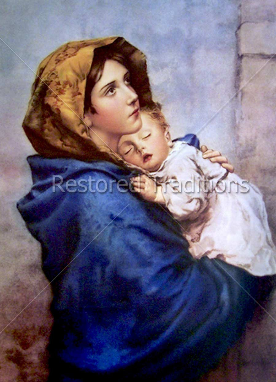 Mary Holding Sleeping Jesus