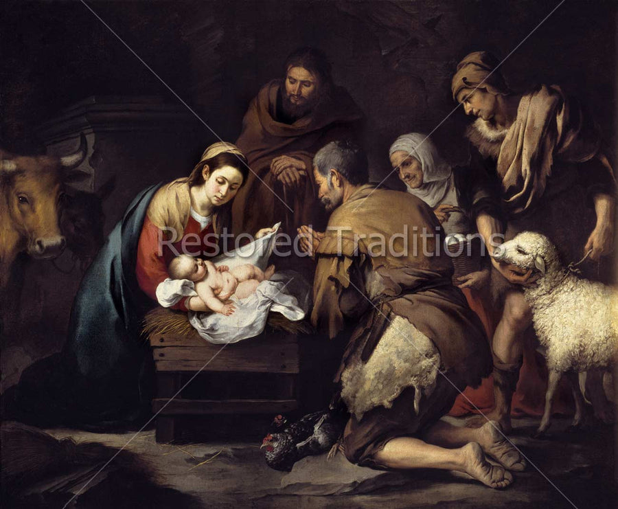 Shepherds Adore the Infant Christ