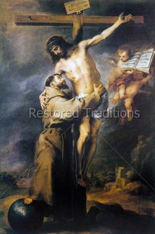 Francis of Assisi Hugging Jesus