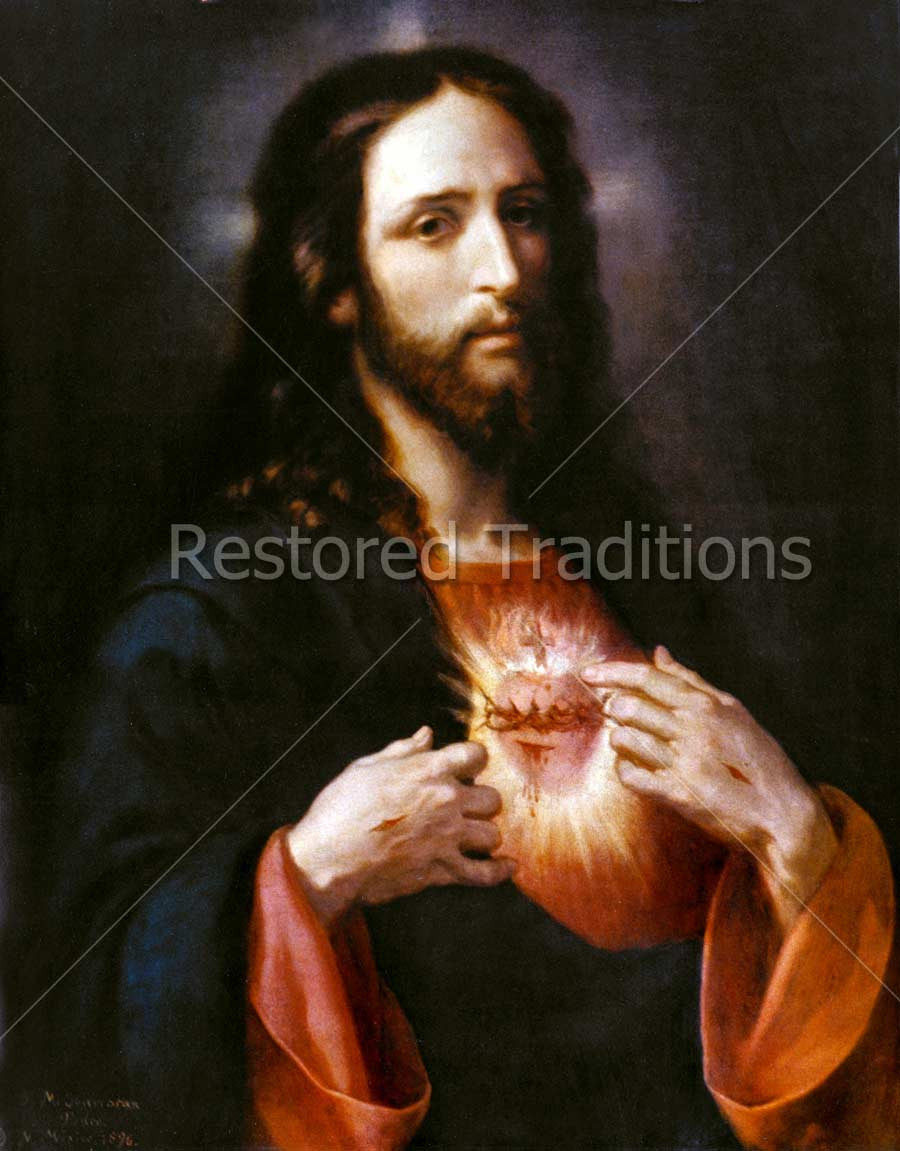 Christ Pointing To His Merciful Heart