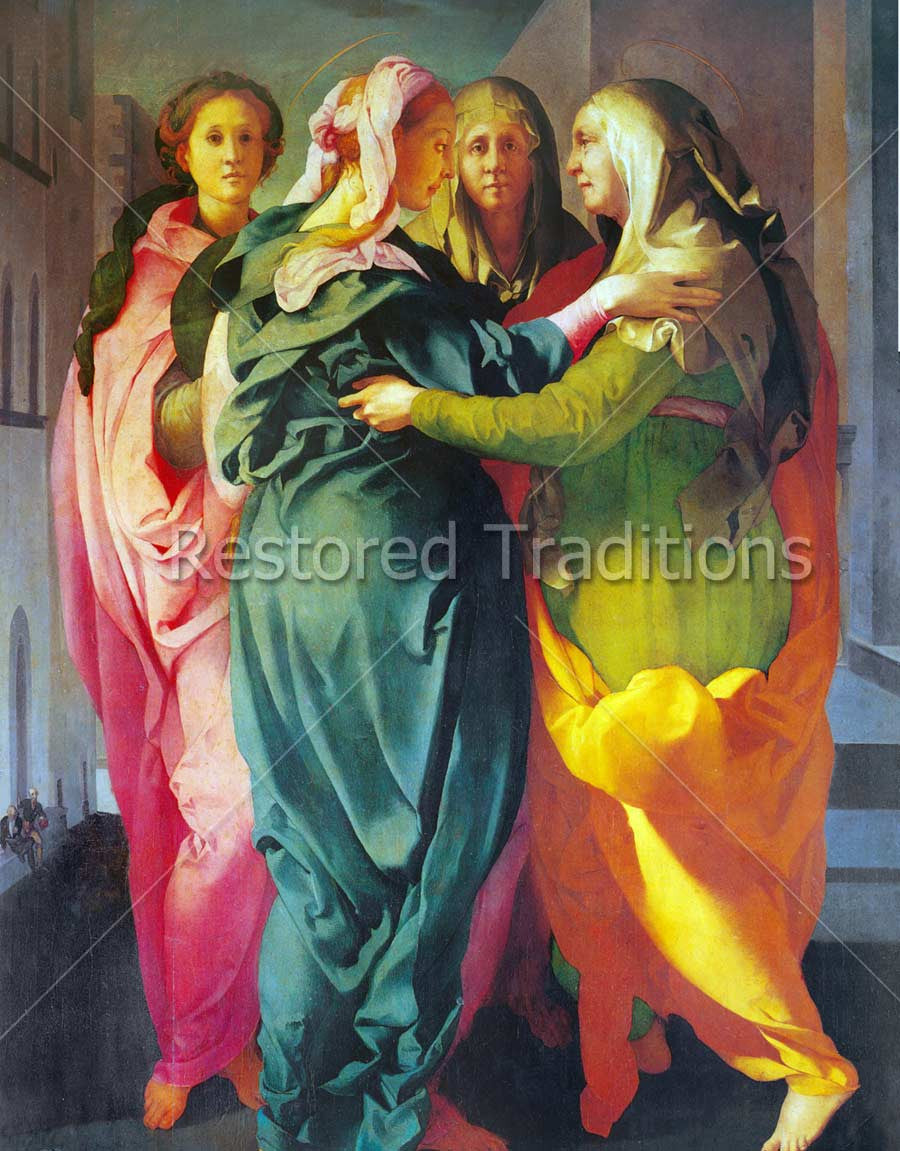 High Resolution Art Image Visitation Of Virgin Mary And Elizabeth