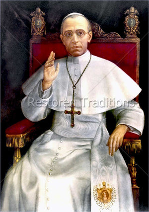 Painting of Pope Pius 12