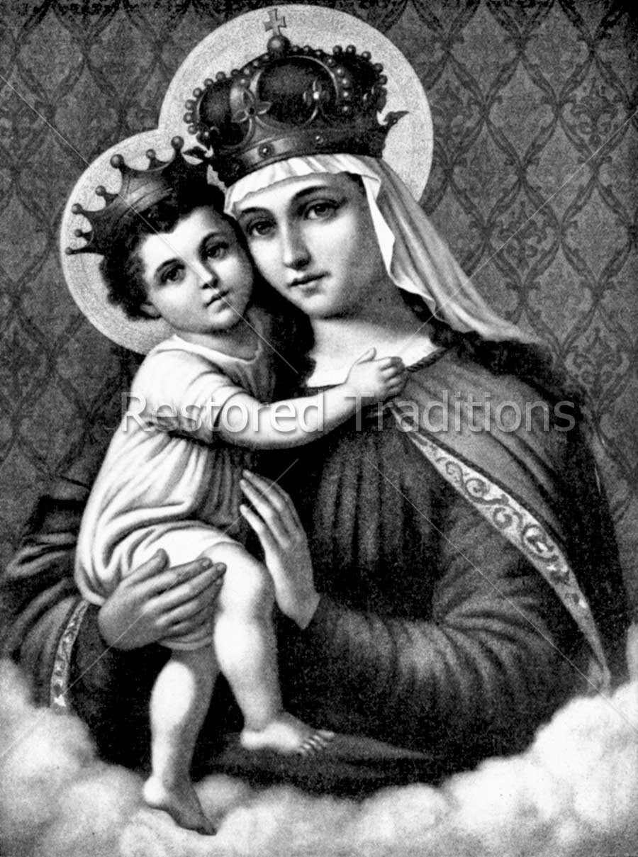 Our lady and Jesus Wearing Crowns