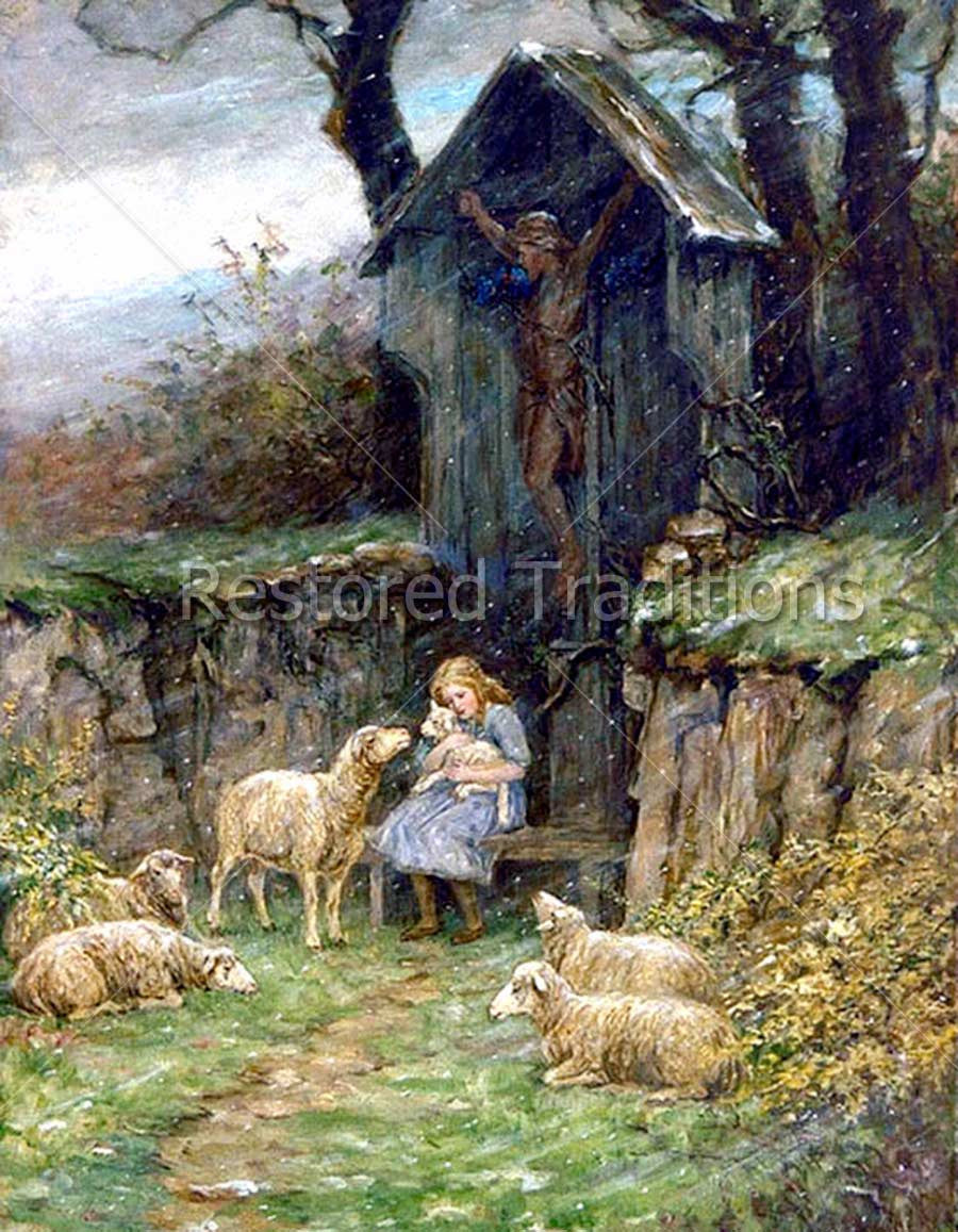 Shepherdess in Crucifix Shrine