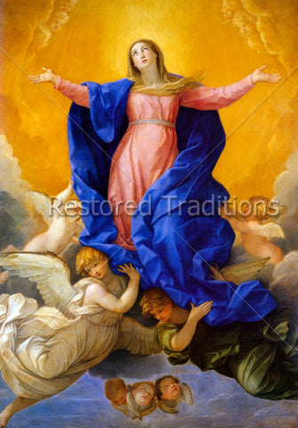 Mary Surrounded by Angels in Heaven