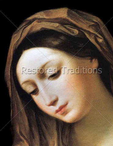 Face of Virgin Mary