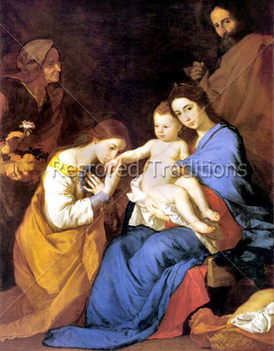 The Holy Family with Sts. Anne & Catherine of Alexandria – Ribera