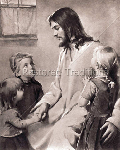 Jesus Blessing Children