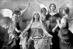 Angels Surround Mother of Sorrow