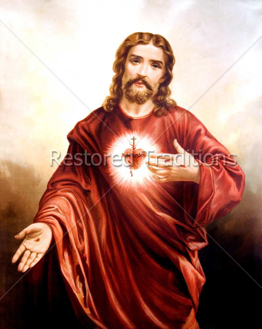 Jesus Showing His Sacred Heart
