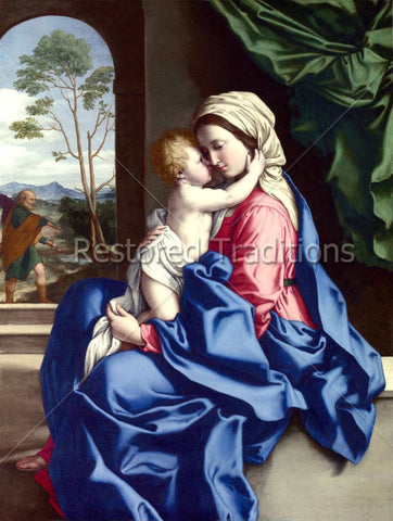 Jesus Hugging Mother Mary