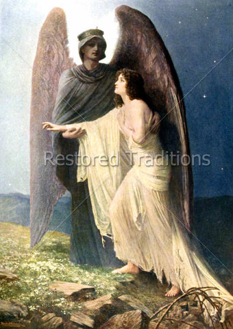 Angel Leading Soul to Heaven