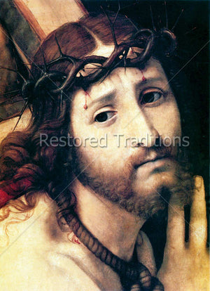 Jesus With Crown of Thorns and Cross