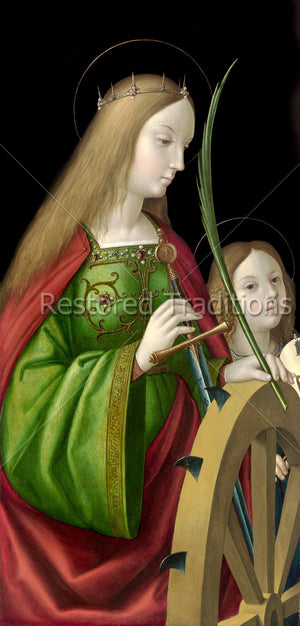 Catherine with Sword and Angel