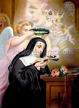 Angel puts thorns on head of nun