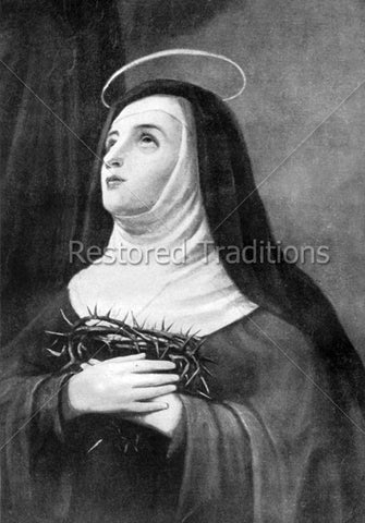 Teresa Holding Crown of Thorns