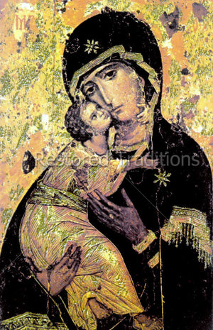 Greek picture of Madonna and Child