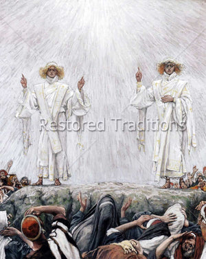 Apostles Look to Heaven After Christ's Ascension