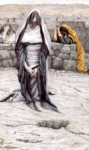 Our Lady Prays at Golgotha