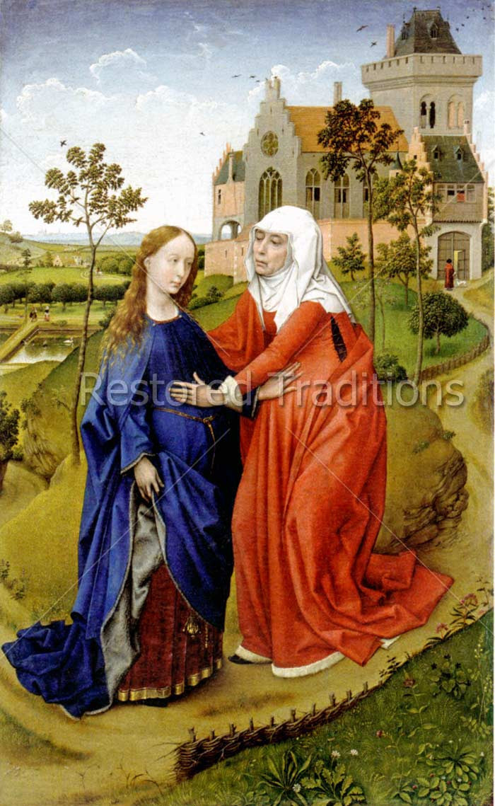 Stock Art Visitation Of Mary To Elizabeth By Van Der Weyden