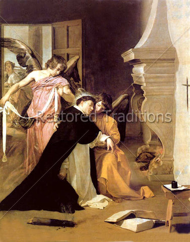 Thomas Aquinas Tempted by Prostitute