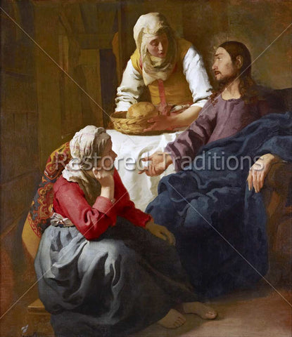 Jesus Talking to Two Sisters