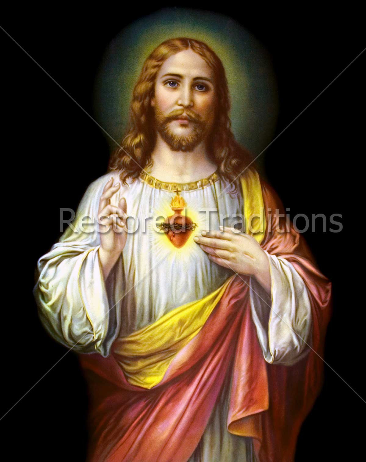 high res image sacred heart of jesus by zabateri