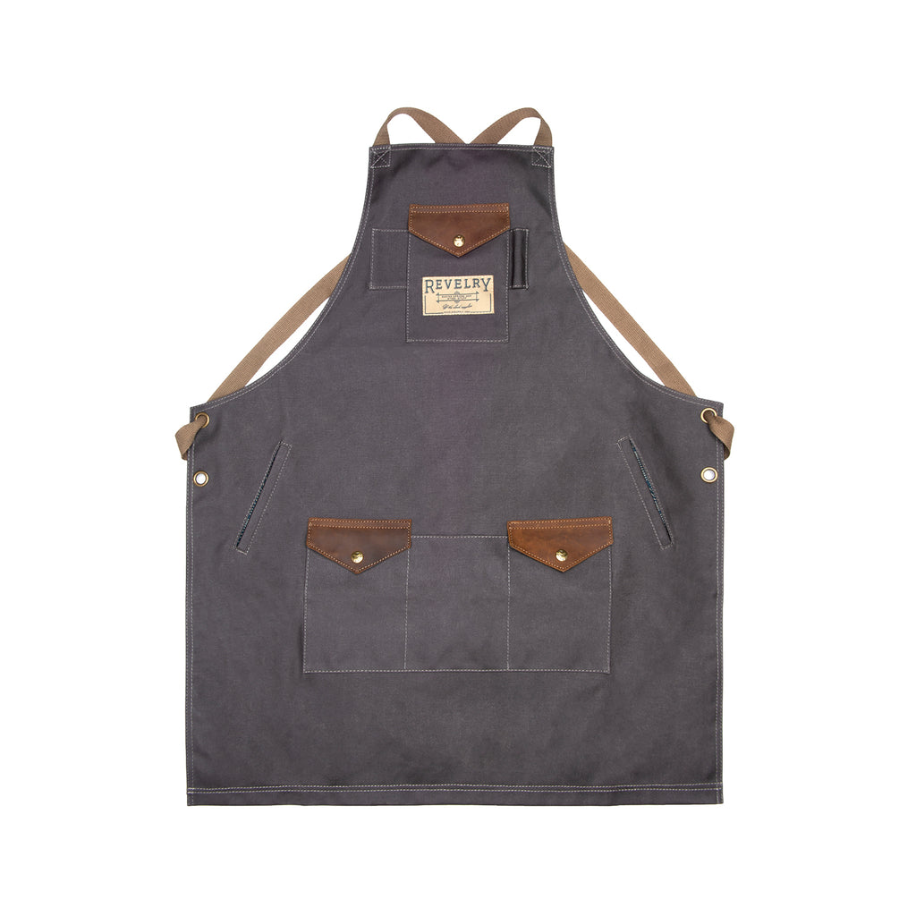 Waxed Canvas Apron with Pockets