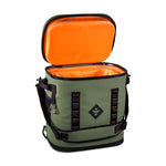 Green Waterproof Leakproof Soft Insulated Cooler Backpack Orange Interior