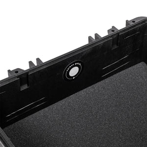 Black Fiberglass Reinforced Hard Case Foam Insert Metal Nameplate Charcoal Filter