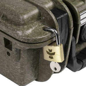 Green Fiberglass Reinforced Hard Case Foam Insert Metal Nameplate Charcoal Filter Lock