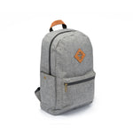 Crosshatch Grey Nylon Smell Proof Water Resistant Backpack Bag