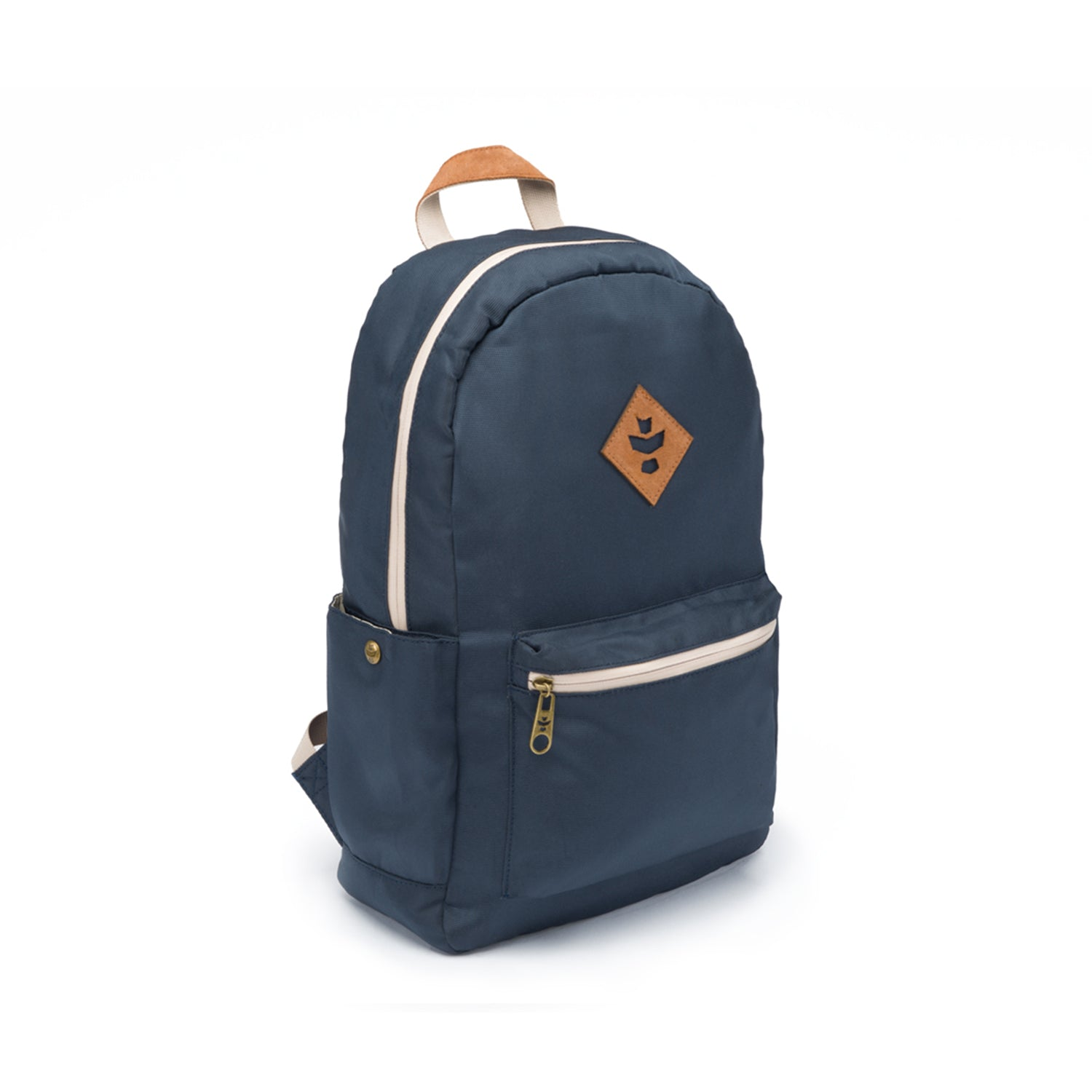 Navy Blue Nylon Smell Proof Water Resistant Backpack Bag