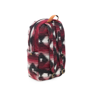 Maroon Pattern Smell Proof Water Resistant Backpack Bag