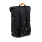 Black Nylon Smell Proof Water Resistant Rolltop Backpack Bag