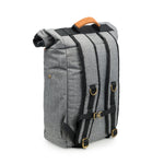 Crosshatch Grey Nylon Smell Proof Water Resistant Rolltop Backpack Bag