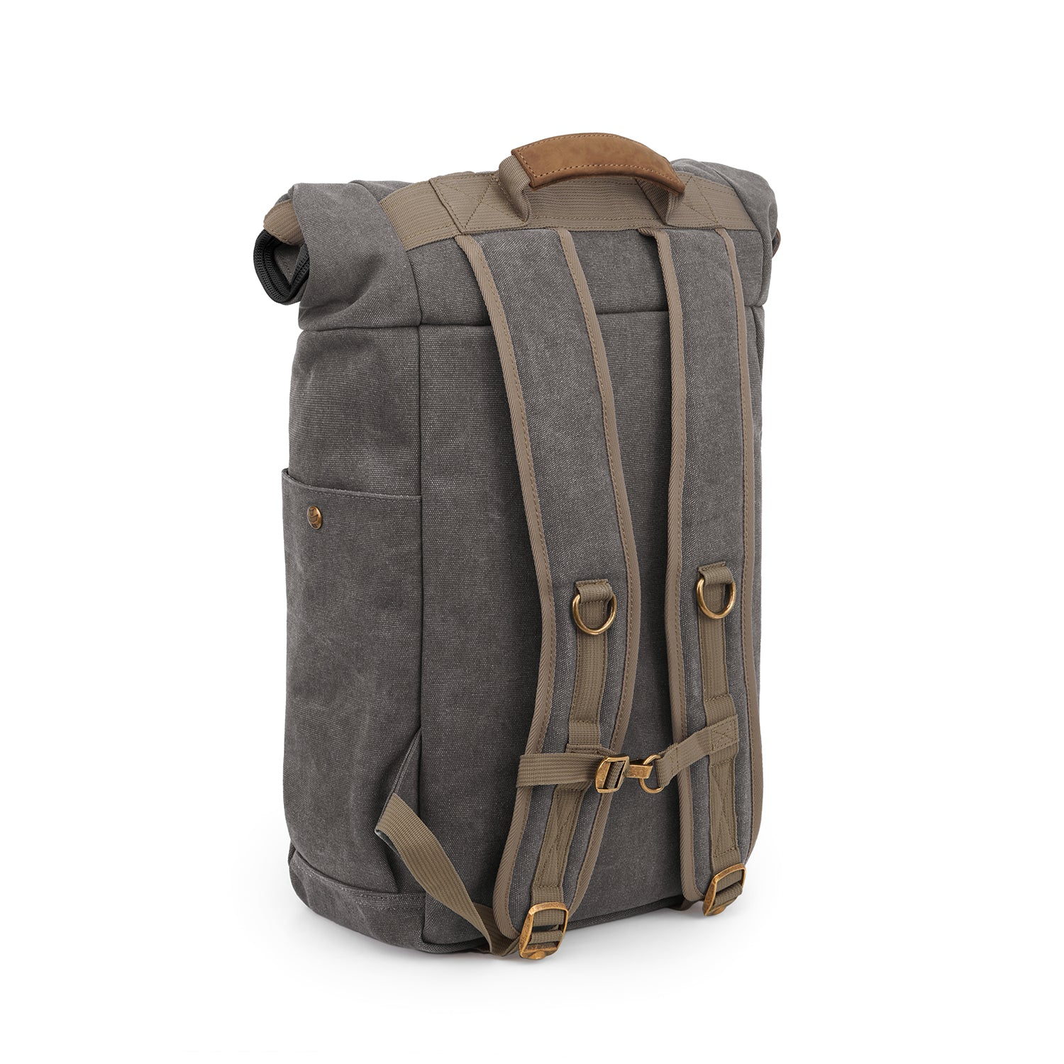 Ash Canvas Smell Proof Water Resistant Rolltop Backpack Bag