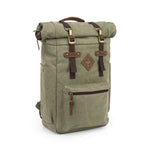 Sage Canvas Smell Proof Water Resistant Rolltop Backpack Bag