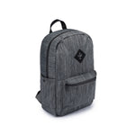Dark Striped Grey Nylon Smell Proof Water Resistant Backpack Bag