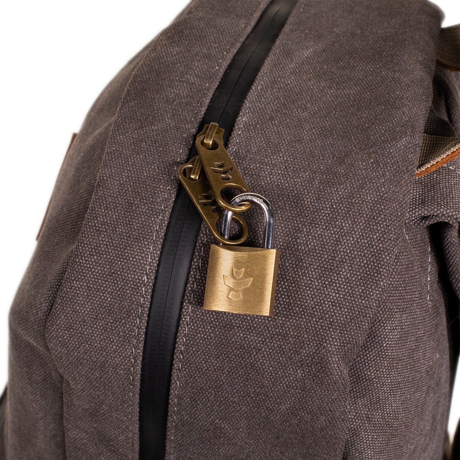 Ash Canvas Smell Proof Water Resistant Backpack Bag Lock