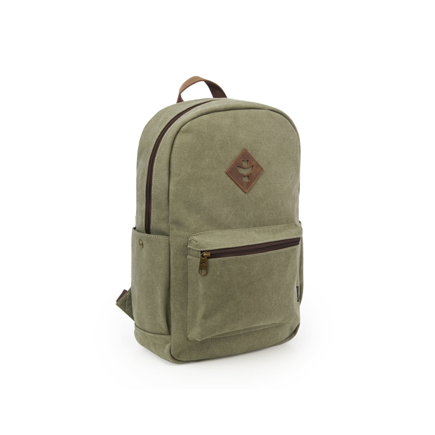 Sage Canvas Smell Proof Water Resistant Backpack Bag