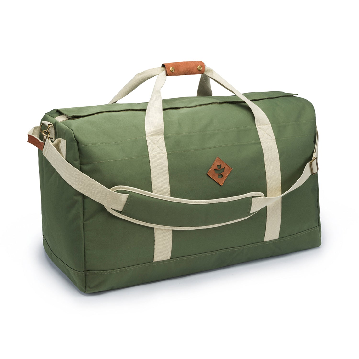 Green Nylon Smell Proof Water Resistant Large Duffle
