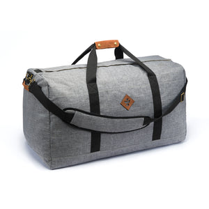 Crosshatch Grey Nylon Smell Proof Water Resistant Large Duffle Bag