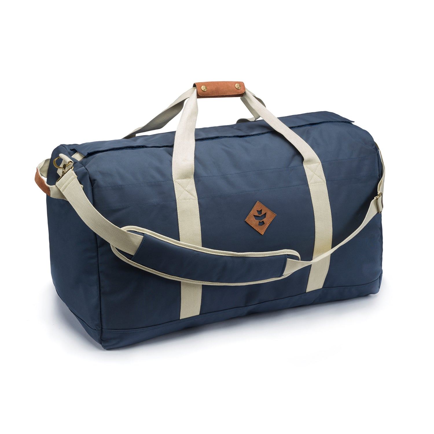 Navy Blue Smell Proof Water Resistant Large Duffle Bag